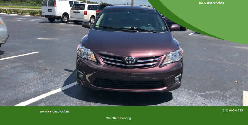 2013 Toyota Corolla for sale at K&N Auto Sales in Tampa FL