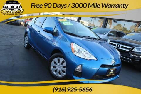 2014 Toyota Prius c for sale at West Coast Auto Sales Center in Sacramento CA