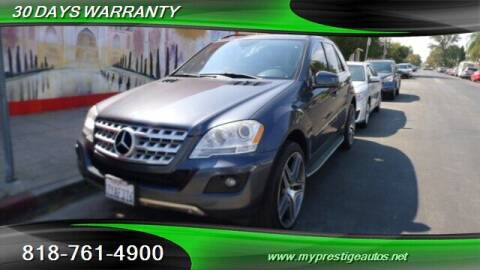 2011 Mercedes-Benz M-Class for sale at Prestige Auto Sports Inc in North Hollywood CA
