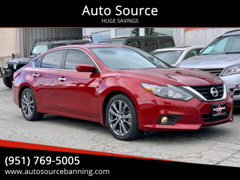 2018 Nissan Altima for sale at Auto Source in Banning CA