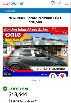 2016 Buick Encore for sale at Garden Island Auto Sales in Lihue HI
