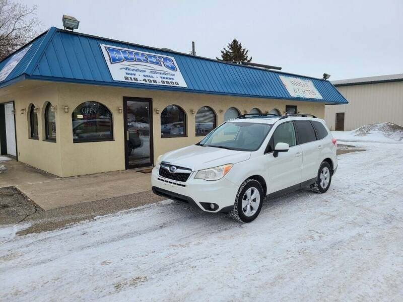 2014 Subaru Forester for sale at Dukes Auto Sales in Glyndon MN