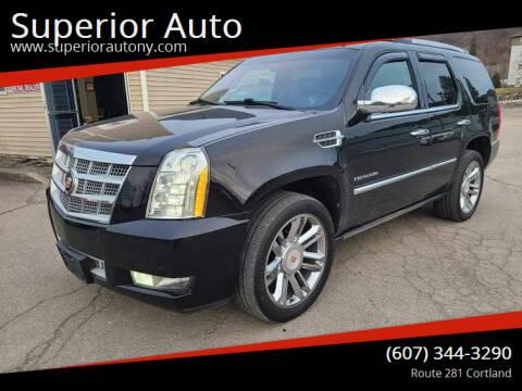 2013 Cadillac Escalade for sale at Superior Auto in Cortland NY