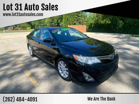 2013 Toyota Camry for sale at Lot 31 Auto Sales in Kenosha WI