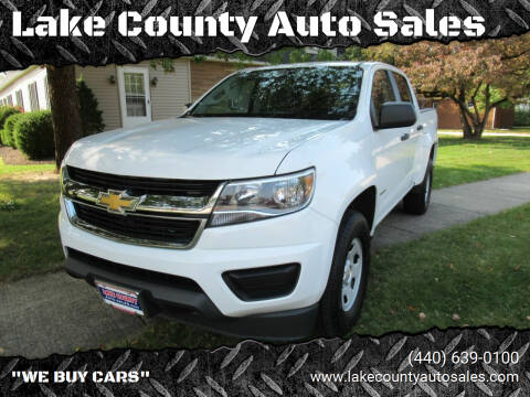 2015 Chevrolet Colorado for sale at Lake County Auto Sales in Painesville OH