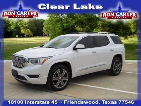 2018 GMC Acadia for sale at Ron Carter  Clear Lake Used Cars in Houston TX