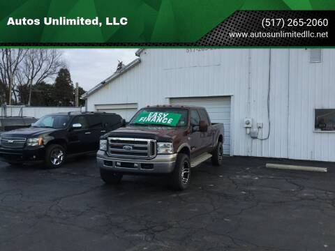 2005 Ford F-250 Super Duty for sale at Autos Unlimited, LLC in Adrian MI