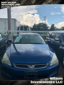 2006 Honda Accord for sale at Wilson Investments LLC in Ewing NJ