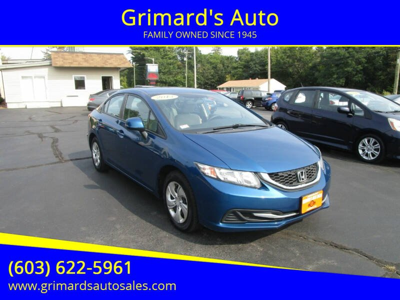 2013 Honda Civic for sale at Grimard's Auto in Hooksett, NH