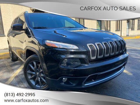 2016 Jeep Cherokee for sale at Carfox Auto Sales in Tampa FL