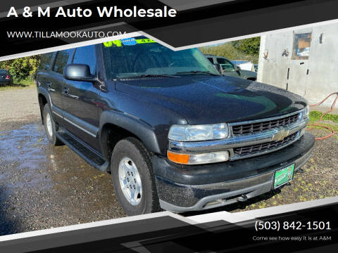 2004 Chevrolet Tahoe for sale at A & M Auto Wholesale in Tillamook OR