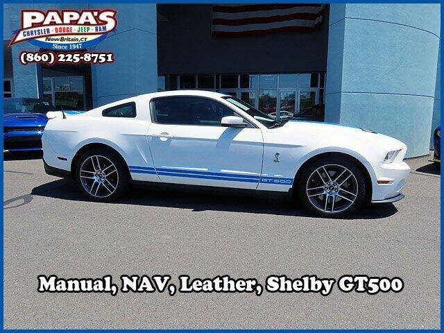 2010 Ford Shelby GT500 for sale at Papas Chrysler Dodge Jeep Ram in New Britain CT