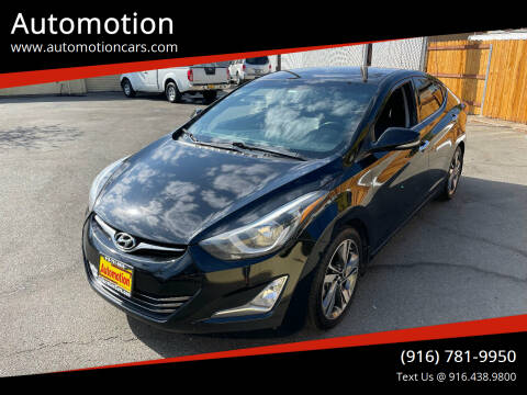 2014 Hyundai Elantra for sale at Automotion in Roseville CA