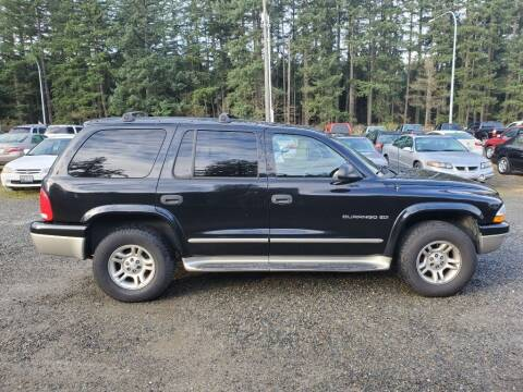 2001 Dodge Durango for sale at WILSON MOTORS in Spanaway WA