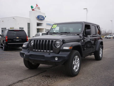 2020 Jeep Wrangler Unlimited for sale at FOWLERVILLE FORD in Fowlerville MI