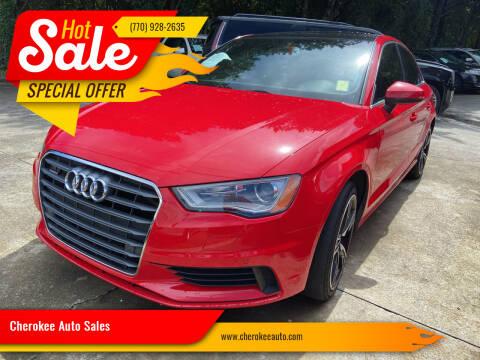2015 Audi A3 for sale at Cherokee Auto Sales in Acworth GA