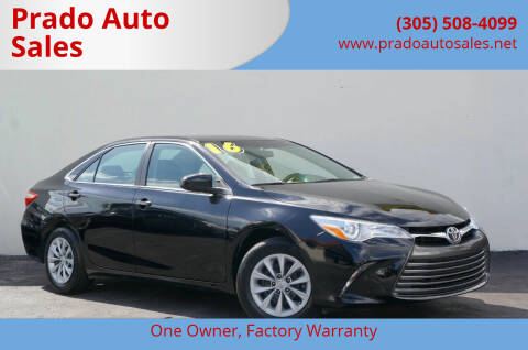 2016 Toyota Camry for sale at Prado Auto Sales in Miami FL