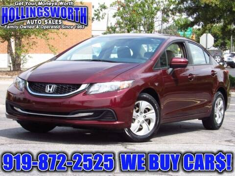 2015 Honda Civic for sale at Hollingsworth Auto Sales in Raleigh NC