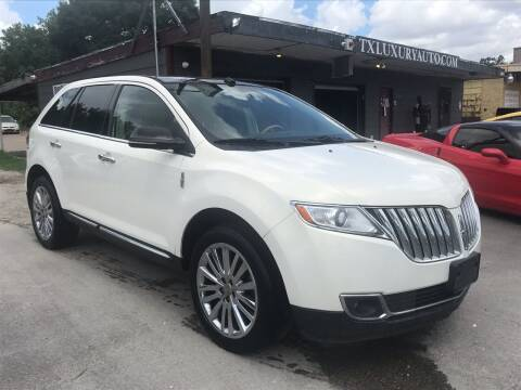 2012 Lincoln MKX for sale at Texas Luxury Auto in Houston TX