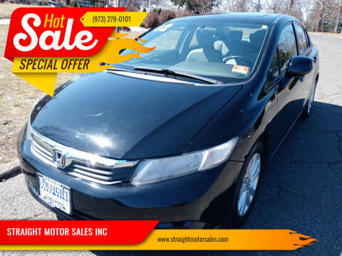 2012 Honda Civic for sale at STRAIGHT MOTOR SALES INC in Paterson NJ
