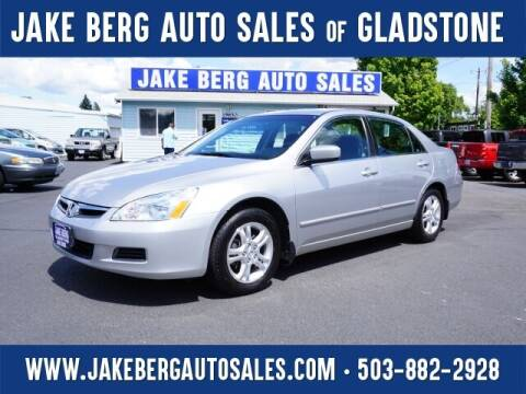 2007 Honda Accord for sale at Jake Berg Auto Sales in Gladstone OR