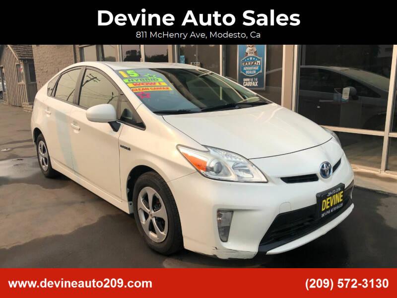 2015 Toyota Prius for sale at Devine Auto Sales in Modesto CA