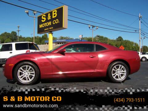 2010 Chevrolet Camaro for sale at S & B MOTOR CO in Danville VA
