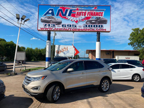 2017 Ford Edge for sale at ANF AUTO FINANCE in Houston TX