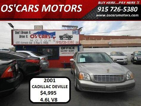 2001 Cadillac DeVille for sale at Os'Cars Motors in El Paso TX