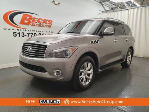 2012 Infiniti QX56 for sale at Becks Auto Group in Mason OH