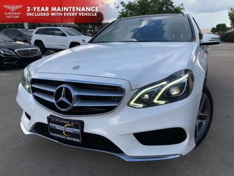 2016 Mercedes-Benz E-Class for sale at European Motors Inc in Plano TX