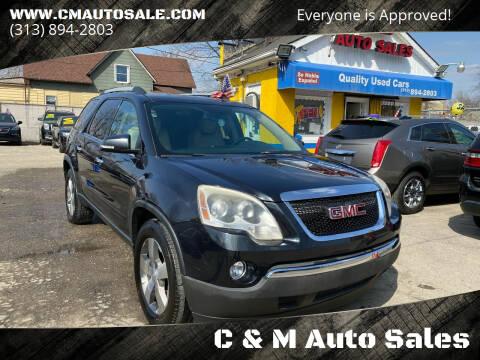 2011 GMC Acadia for sale at C & M Auto Sales in Detroit MI