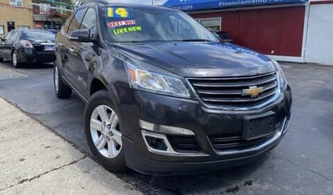 2014 Chevrolet Traverse for sale at Latino Motors in Aurora IL