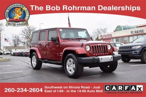 2011 Jeep Wrangler Unlimited for sale at BOB ROHRMAN FORT WAYNE TOYOTA in Fort Wayne IN