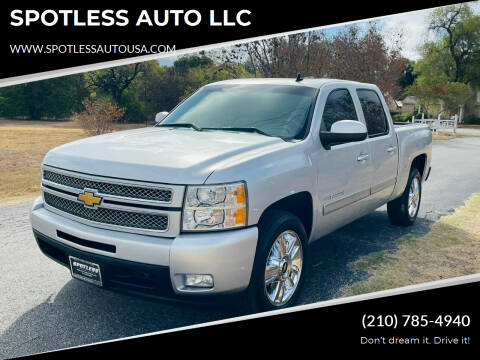 2013 Chevrolet Silverado 1500 for sale at SPOTLESS AUTO LLC in San Antonio TX