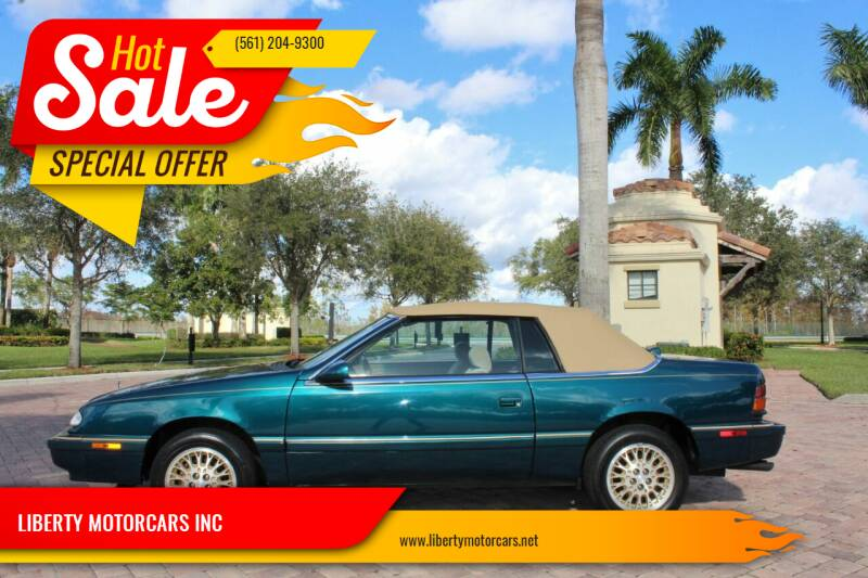 1995 Chrysler Le Baron for sale at LIBERTY MOTORCARS INC in Royal Palm Beach FL