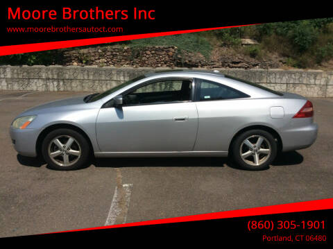 2005 Honda Accord for sale at Moore Brothers Inc in Portland CT