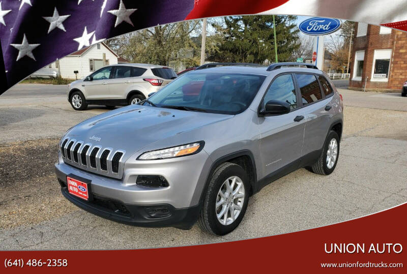 2017 Jeep Cherokee for sale at Union Auto in Union IA