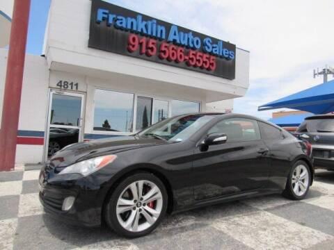 2010 Hyundai Genesis Coupe for sale at Franklin Auto Sales in El Paso TX