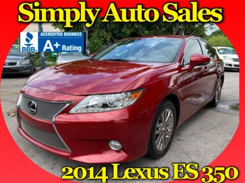 2014 Lexus ES 350 for sale at Simply Auto Sales in Palm Beach Gardens FL