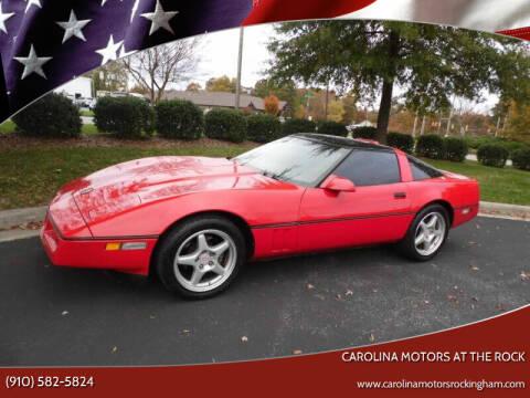 1989 Chevrolet Corvette for sale at Carolina Motors at the Rock in Rockingham NC