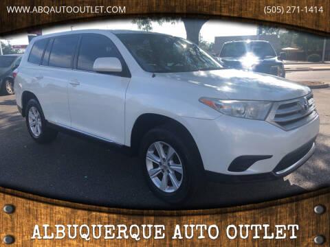 2011 Toyota Highlander for sale at ALBUQUERQUE AUTO OUTLET in Albuquerque NM