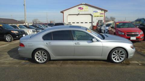 2007 BMW 7 Series for sale at Jefferson St Motors in Waterloo IA