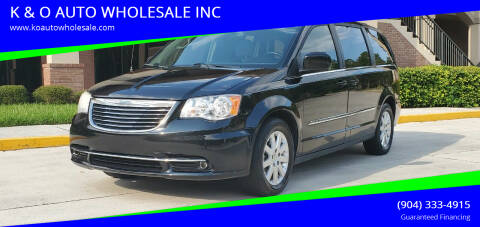 2013 Chrysler Town and Country for sale at K & O AUTO WHOLESALE INC in Jacksonville FL