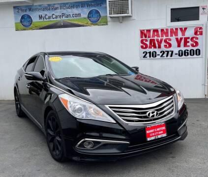 2016 Hyundai Azera for sale at Manny G Motors in San Antonio TX