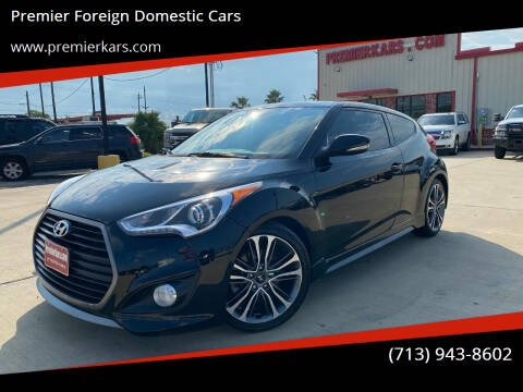 2016 Hyundai Veloster for sale at Premier Foreign Domestic Cars in Houston TX
