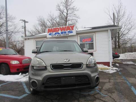 2013 Kia Soul for sale at Midway Cars LLC in Indianapolis IN