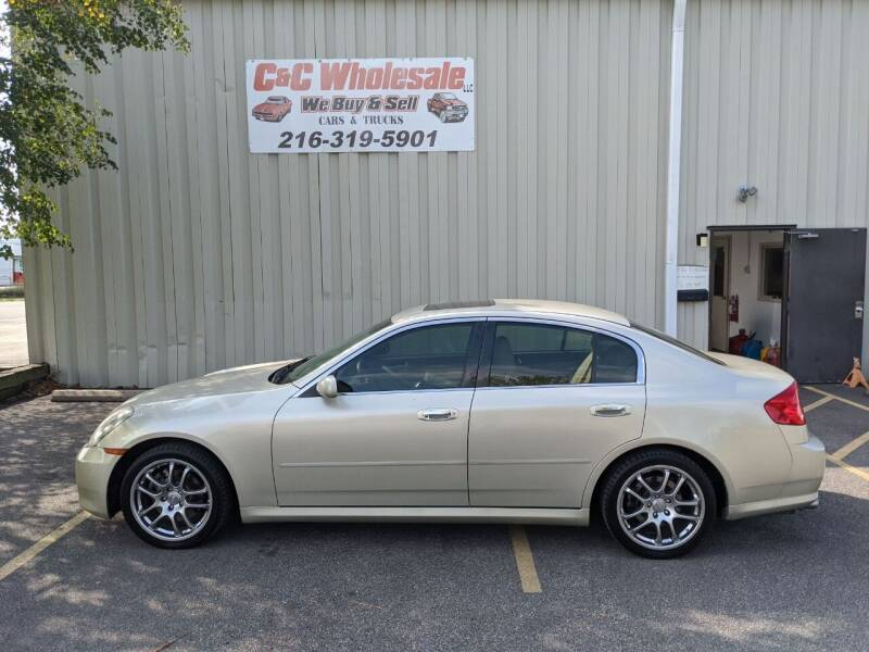 2005 Infiniti G35 for sale at C & C Wholesale in Cleveland OH