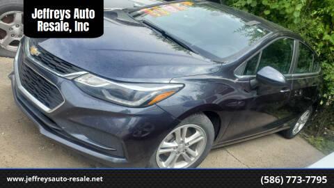 2016 Chevrolet Cruze for sale at Jeffreys Auto Resale, Inc in Clinton Township MI