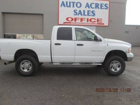 2005 Dodge Ram Pickup 2500 for sale at Auto Acres in Billings MT